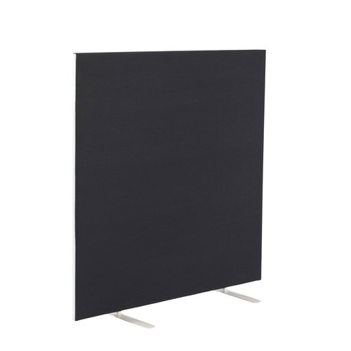 Upholstered Floor Standing Screen Straight
