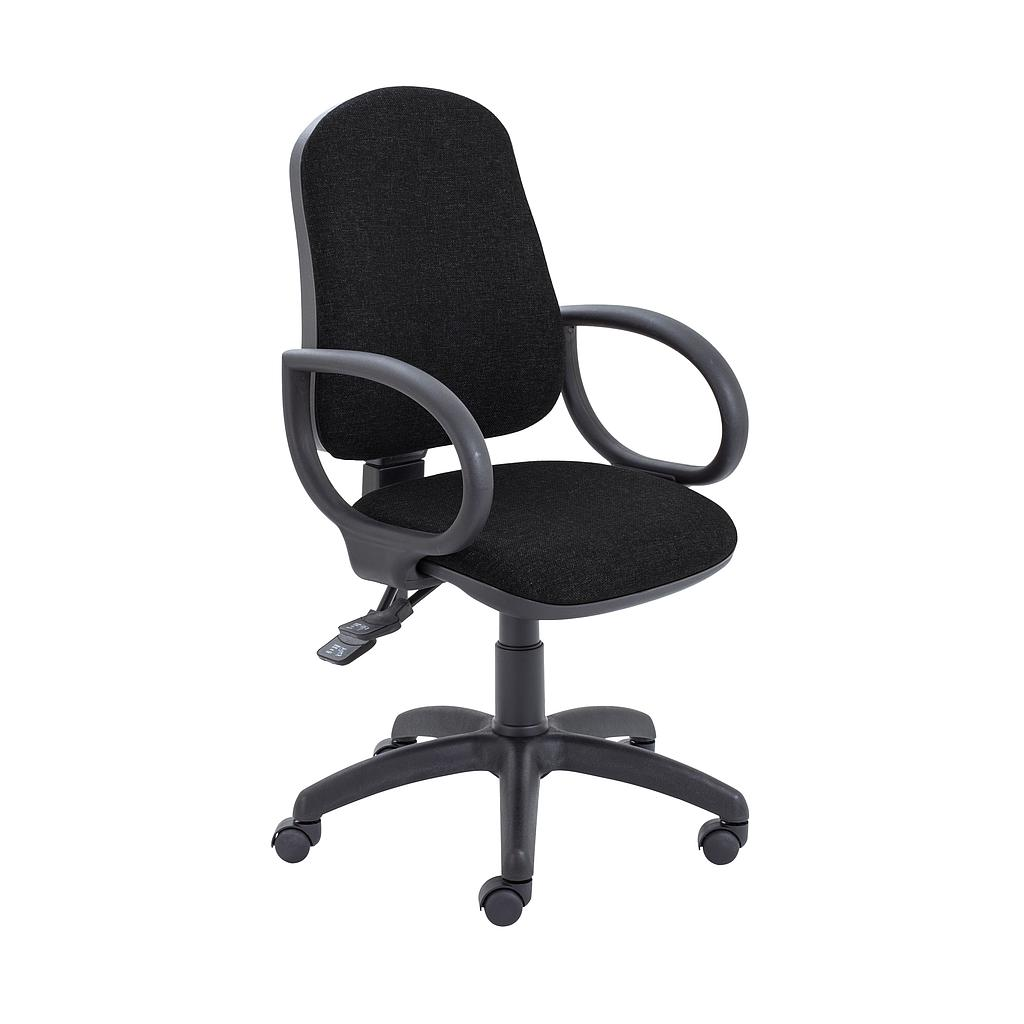 Calypso II Deluxe Chair with Fixed Arms - Black