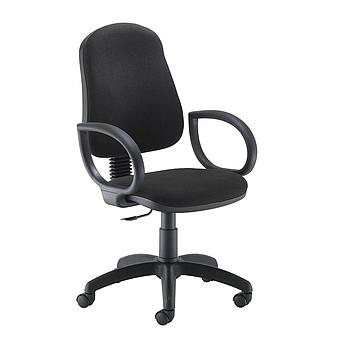 Calypso II Single Lever Chair with Fixed Arms - Black