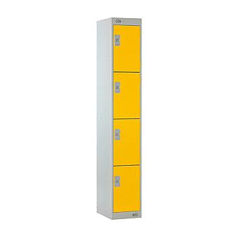 4 Door Locker 300X300X1800 Yellow Door