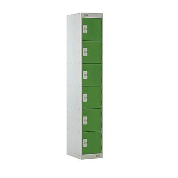 6 Door Locker 300X300X1800 Green Door